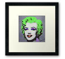 Joker Marilyn Framed Print