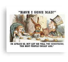 Alice and the Hatter Metal Print