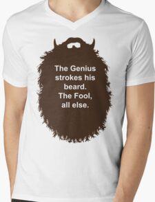 Beard-Collection - The Genius Mens V-Neck T-Shirt