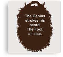 Beard-Collection - The Genius Canvas Print