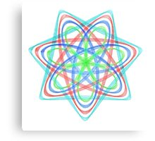 7 pointed spirograph 2 Canvas Print