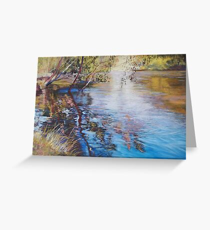 'Swirls & Ripples - Goulburn River' Greeting Card