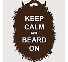 Beard-Collection - Keep Calm Photographic Print