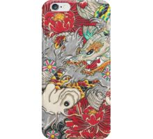 Koi dragon with koi fish iPhone Case/Skin