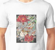 Koi dragon with koi fish Unisex T-Shirt