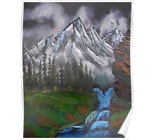 Mountain Landscape at Dusk  Poster