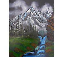 Mountain Landscape at Dusk  Photographic Print