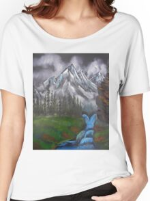 Mountain Landscape at Dusk  Women's Relaxed Fit T-Shirt