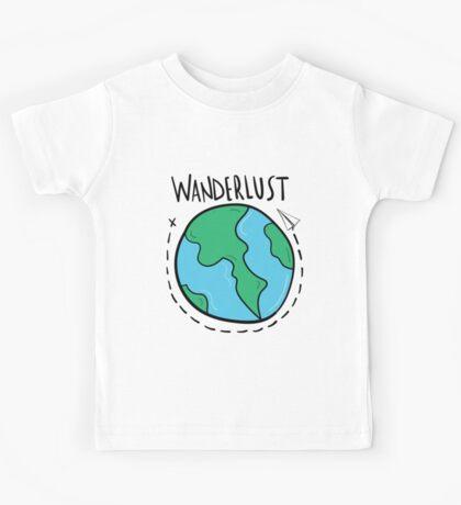Wanderlust planet. Kids Tee