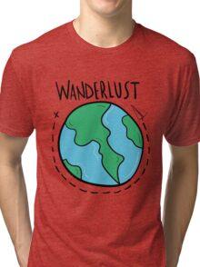 Wanderlust planet. Tri-blend T-Shirt