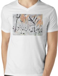 By the Bank of the Millstream Mens V-Neck T-Shirt
