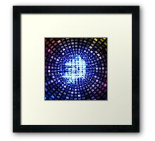 Disco ball background Framed Print