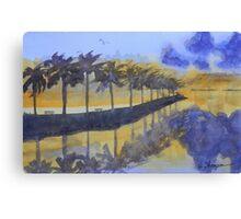 Florida Sunset Reflections Canvas Print