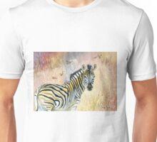 Zebra in Rainbow Savanna Unisex T-Shirt