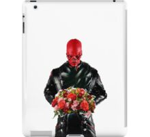 Red skull with flowers iPad Case/Skin