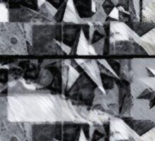 Geometric abstract stellated polyhedra make love 1 Sticker