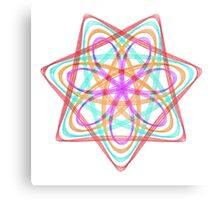 7 pointed spirograph 3 Canvas Print