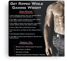 Getting Ripped - Infographic Metal Print