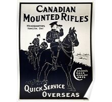Vintage poster - Canadian Mounted Rifles Poster