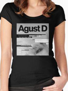 Agust D, 1st MiXTape: Agust D '1st Mixtape Cover' [t-shirts]/DTown Suga Women's Fitted Scoop T-Shirt