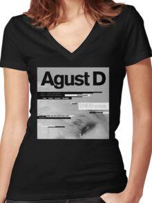 Agust D, 1st MiXTape: Agust D '1st Mixtape Cover' [t-shirts]/DTown Suga Women's Fitted V-Neck T-Shirt