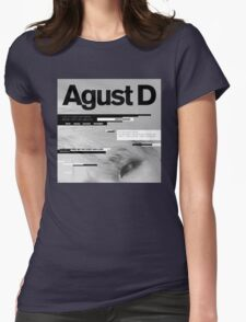 Agust D, 1st MiXTape: Agust D '1st Mixtape Cover' [t-shirts]/DTown Suga Womens Fitted T-Shirt