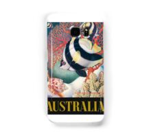 Australia Great Barrier Reef Vintage World Travel Poster by Eileen Mayo Samsung Galaxy Case/Skin