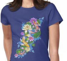 Lotus Koi Pond Womens Fitted T-Shirt