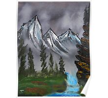 Mountain Landscape at Dawn Poster