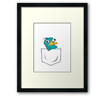 Perry the Platypus Pocket Framed Print