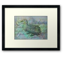 The Albatross Did Follow Framed Print