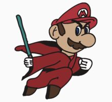 Flying Jedi Mario Kids Tee