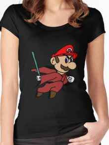 Flying Jedi Mario Women's Fitted Scoop T-Shirt