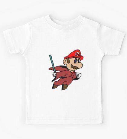 Flying Jedi Mario Kids Tee