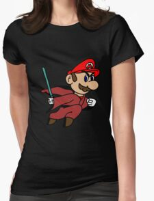 Flying Jedi Mario Womens Fitted T-Shirt