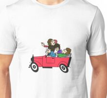 THE BEATLES DRIVING A CAR Unisex T-Shirt