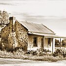 Old stone house at Silverton, Outback NSW Australia by George Petrovsky