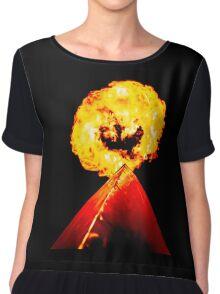 Phoenix Flame Tower Chiffon Top