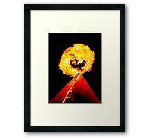 Phoenix Flame Tower Framed Print