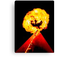 Phoenix Flame Tower Canvas Print