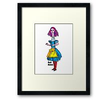 Ask Alice - Alice in wonderland Framed Print