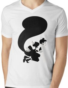 Squirrel Girl Silhouette Mens V-Neck T-Shirt