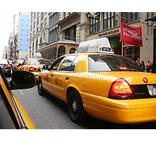 Taxi ride through NoHo Photographic Print