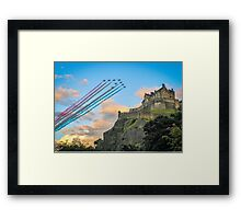 The Red Arrows Edinburgh Castle Framed Print