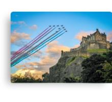 The Red Arrows Edinburgh Castle Canvas Print