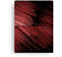 Line Art - The Scratch, red Canvas Print