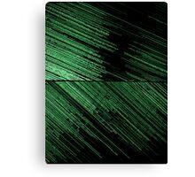 Line Art - The Scratch, green Canvas Print