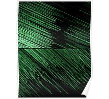 Line Art - The Scratch, green Poster
