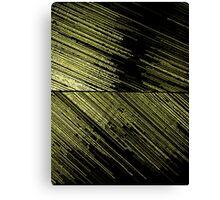 Line Art - The Scratch, yellow Canvas Print