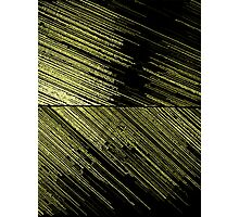 Line Art - The Scratch, yellow Photographic Print